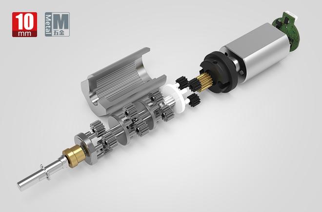 10MM金属减速齿轮箱