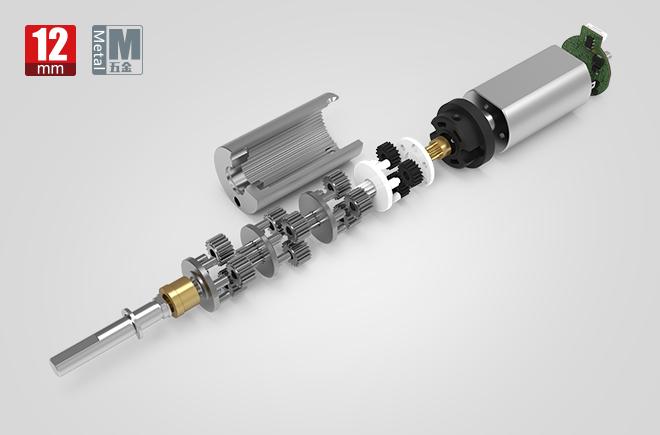 12MM金属减速齿轮箱
