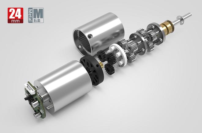 24MM金属减速齿轮箱