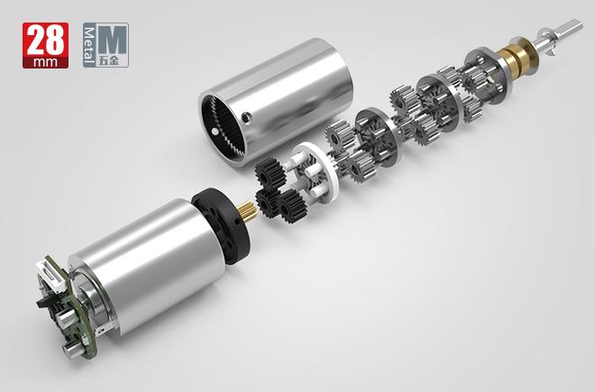 28MM金属减速齿轮箱