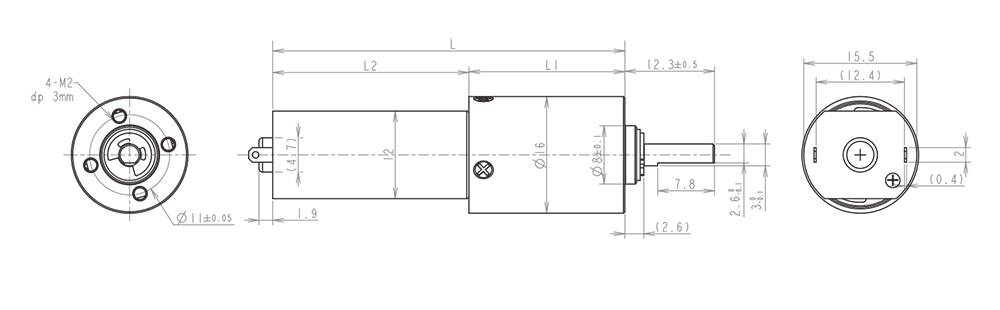 16MM金属减速齿轮箱